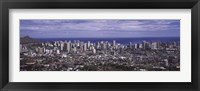 Framed Aerial view of a city, Honolulu, Oahu, Honolulu County, Hawaii, USA 2010