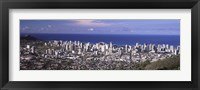 Framed Honolulu skyline, Oahu, Honolulu County, Hawaii, USA 2010