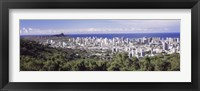 Framed View of Honolulu with the ocean in the background, Oahu, Honolulu County, Hawaii, USA 2010