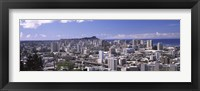 Framed High angle view of a city, Honolulu, Oahu, Honolulu County, Hawaii, USA