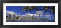 Framed Skyscrapers at the waterfront, Honolulu, Hawaii