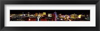 Framed High angle view of a city at night, Las Vegas, Clark County, Nevada, USA 2011