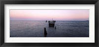 Framed Pier in the Atlantic Ocean, Dilapidated Pier, North Point State Park, Edgemere, Baltimore County, Maryland, USA