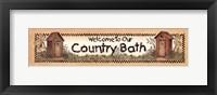 Framed Bath Welcome