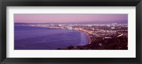 Framed View of Los Angeles downtown, California, USA