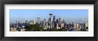 Framed Seattle city skyline and downtown financial building, King County, Washington State, USA 2010