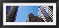 Framed Low angle view of skyscrapers in a city, Charlotte, Mecklenburg County, North Carolina, USA 2011
