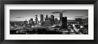 Framed Atlanta skyline in black and white, Georgia, USA