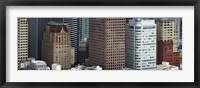 Framed Skyscrapers in the financial district, San Francisco, California, USA