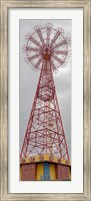 Framed Parachute Jump Tower along Riegelmann Boardwalk, Long Island, Coney Island, New York City, New York State, USA