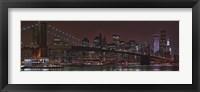 Framed Jane's Carousel at the base of the bridge, Brooklyn Bridge, Manhattan, New York City, New York State, USA 2011