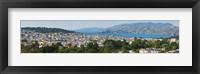 Framed High angle view of a city, Richmond District, Lincoln Park, San Francisco, California, USA