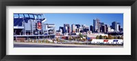 Framed Stadium in a city, Sports Authority Field at Mile High, Denver, Denver County, Colorado