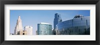 Framed Low angle view of downtown skyline, Sprint Center, Kansas City, Missouri, USA