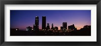 Framed Downtown Oklahoma City at Night