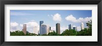 Framed Houston Skyline with Clouds, Texas, USA