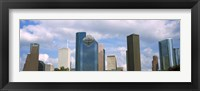 Framed Low angle view of skyscrapers, Houston, Texas, USA