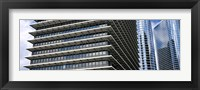 Framed Low angle view of buildings in a city, ExxonMobil Building, Chevron Building, Houston, Texas, USA