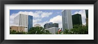 Framed Downtown Houston, Texas, USA