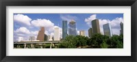 Framed Wedge Tower, ExxonMobil Building, Chevron Building from a Distance, Houston, Texas, USA