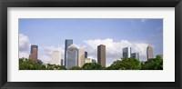 Framed Wedge Tower, ExxonMobil Building, Chevron Building, Houston, Texas (horizontal)