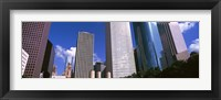 Framed Low angle view of buildings, Wedge Tower, Continental Airlines Tower, ExxonMobil Building, Chevron Building, Houston, Texas, USA