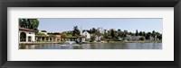 Framed Lake Merritt in Oakland, California, USA
