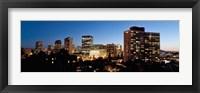 Framed Skyline at dusk, Oakland, California