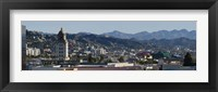 Framed High angle view of Beverly Hills, West Hollywood, Hollywood Hills, California