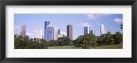 Framed Downtown skylines, Houston, Texas