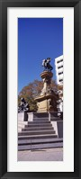 Framed Kit Carson Statue, Pioneer Monument, Denver, Colorado, USA