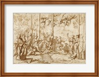 Framed Apollo and the Muses on Mount Parnassus