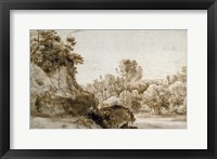 Framed Wooded Landscape