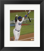 Framed Yasiel Puig RBI Triple Game 3 of the 2013 National League Championship Series Action