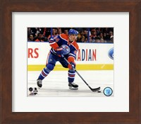 Framed Nail Yakupov 2013-14 Action