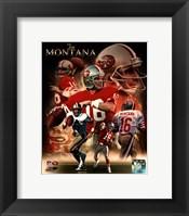 Framed Joe Montana 2013 Portrait Plus