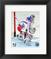 Framed Henrik Lundqvist 2013-14 in Action