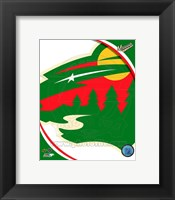 Framed Minnesota Wild 2013 Team Logo