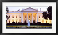 Framed USA, Washington DC, White House, twilight