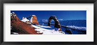 Framed USA, Utah, Delicate Arch, winter