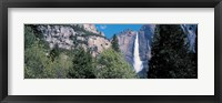 Framed Yosemite Falls Yosemite National Park CA USA