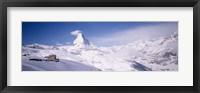 Framed Hotel on a polar landscape, Matterhorn, Zermatt, Switzerland