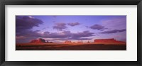 Framed Monument Valley with Purple Sky, Arizona