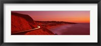 Framed Pacific Coast Highway At Sunset, California, USA