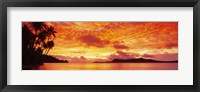 Framed Sunset, Huahine Island, Tahiti
