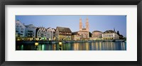 Framed Evening, Cityscape, Zurich, Switzerland