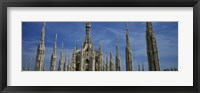 Framed Facade of a cathedral, Piazza Del Duomo, Milan, Italy