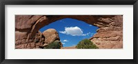 Framed North Window, Arches National Park, Utah, USA
