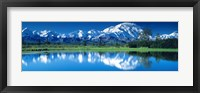 Framed Mt McKinley and Wonder Lake Denali National Park AK