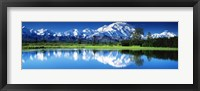 Framed Lake in Denali National Park AK